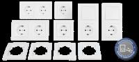 Schalter und Steckdosen Set McPower Flair Standard Profi,...