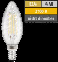 LED Filament Kerzenlampe gedreht McShine Filed, E14, 4W,...