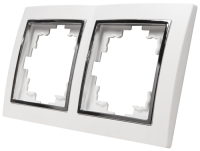 Rahmen McPower Flair 2-fach, weiß mit silberner...