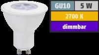 LED-Strahler GU10, 5W, 320lm, 2700K, warmweiß, dimmbar
