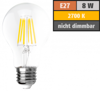 LED Filament Glühlampe McShine Filed, E27, 8W, 1055...