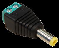 Adapter McPower, DC-Stecker 5,5x2,1mm und Lüsterklemme