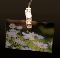 LED-Lichterkette McShine mit 20 Clips, warmweiß,...