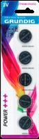Lithium-Knopfzelle GRUNDIG CR2032, 3V, 5er-Blister