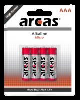 Micro-Batterie Alkaline 1,5V, Typ AAA/LR03, 4er-Pack