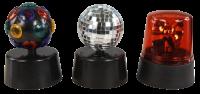 LED-Partyset, 3 Partyeffekte, Batterie betrieben