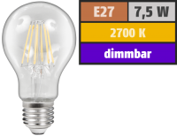 LED Filament Glühlampe McShine Filed, E27, 7,5W, 800...