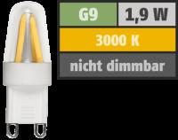 LED-Stiftsockellampe Filament McShine Silicia, G9, 1,9W,...