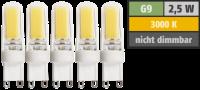 LED-Stiftsockellampe McShine Silicia COB, G9, 2,5W,...