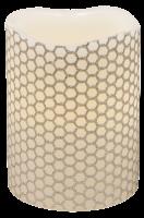LED Echtwachskerze, ØxH 7,5x10cm, flackernd