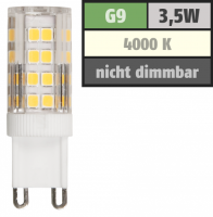 LED-Stiftsockellampe McShine, G9, 3,5W, 300lm, 4000K,...