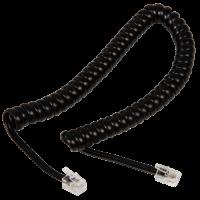 Telefonhörer-Spiralkabel McPower, RJ10-Stecker...