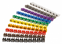 Kabelmarker-Clips McPower, bedruckt mit Ziffern 0-9,...